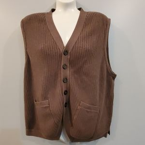 EQ Equilibrio Rooster Brown Sweater Vest